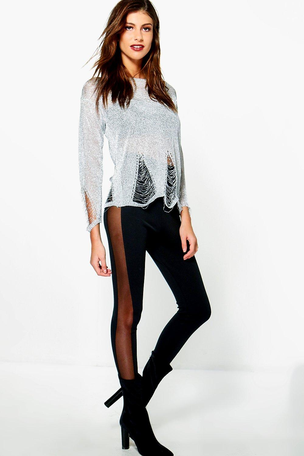 Valentina Mesh Side Panel Ponte Leggings
