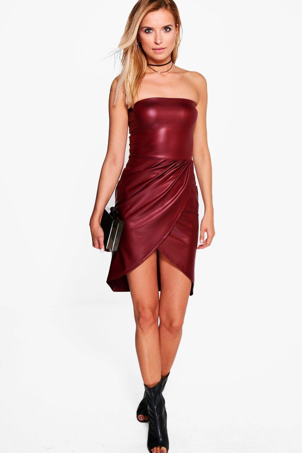Danielle Bandeau Wrap Midi Dress