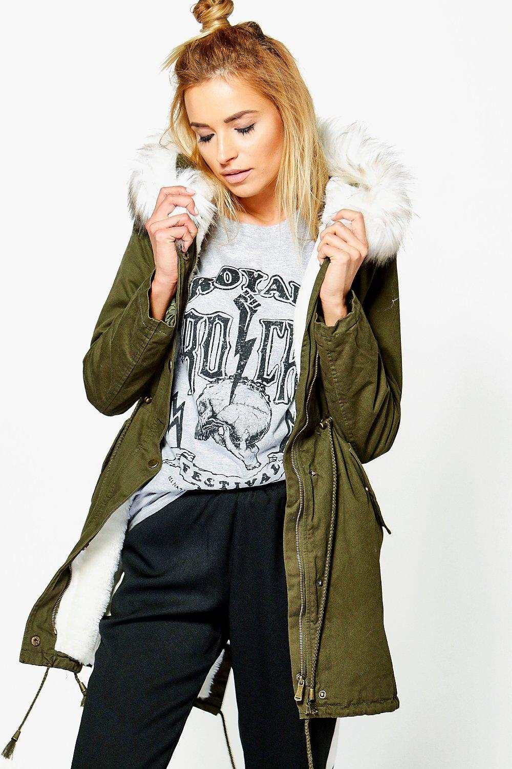Harriet Faux Fur Parka