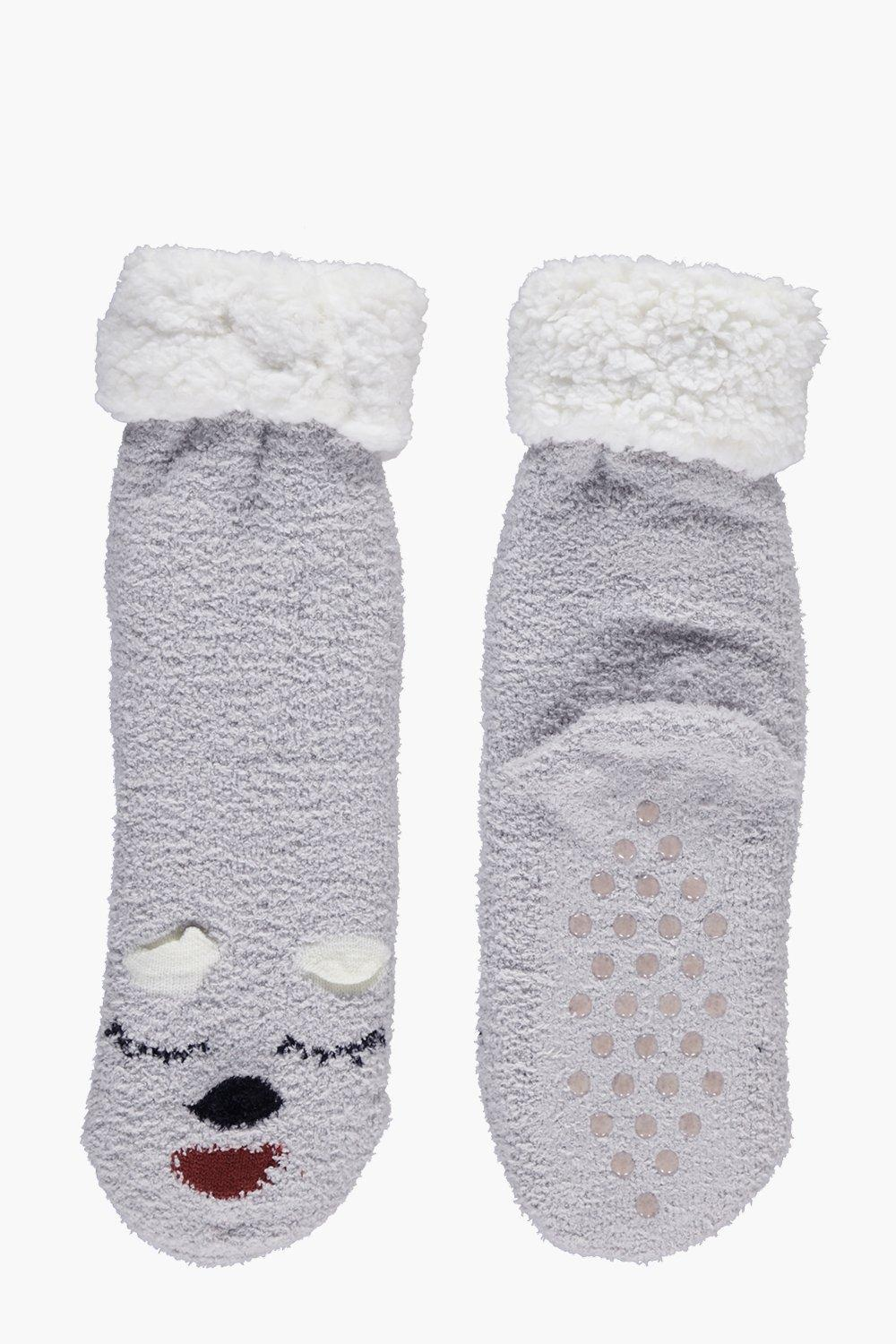 Eliza Sleepy Cat Super Soft Slipper Sock