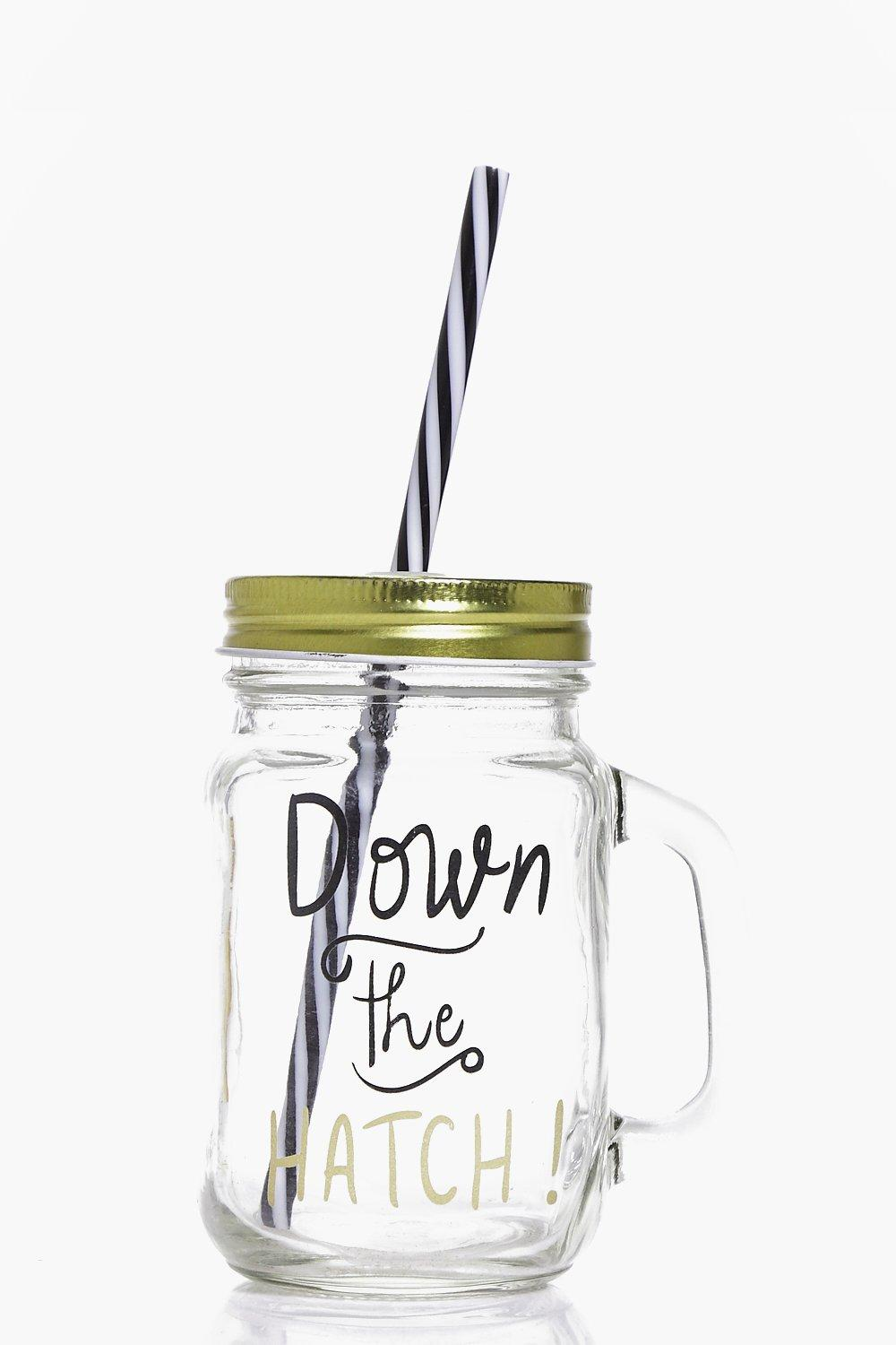 Down The Hatch Mason Jar