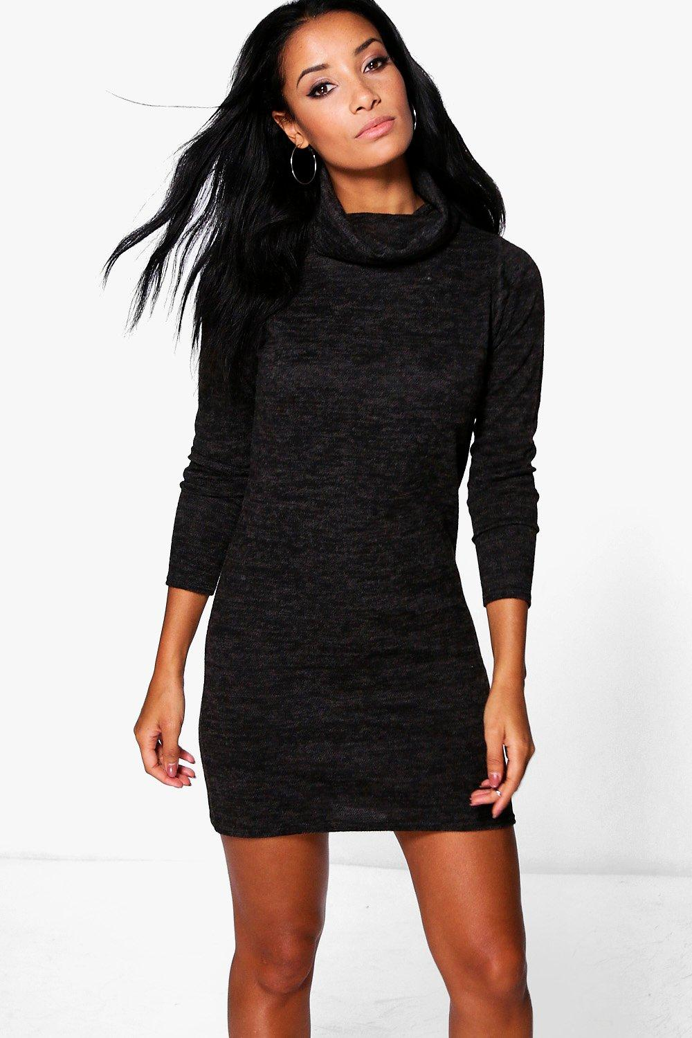 Emma Cowl Neck Jumper Dress