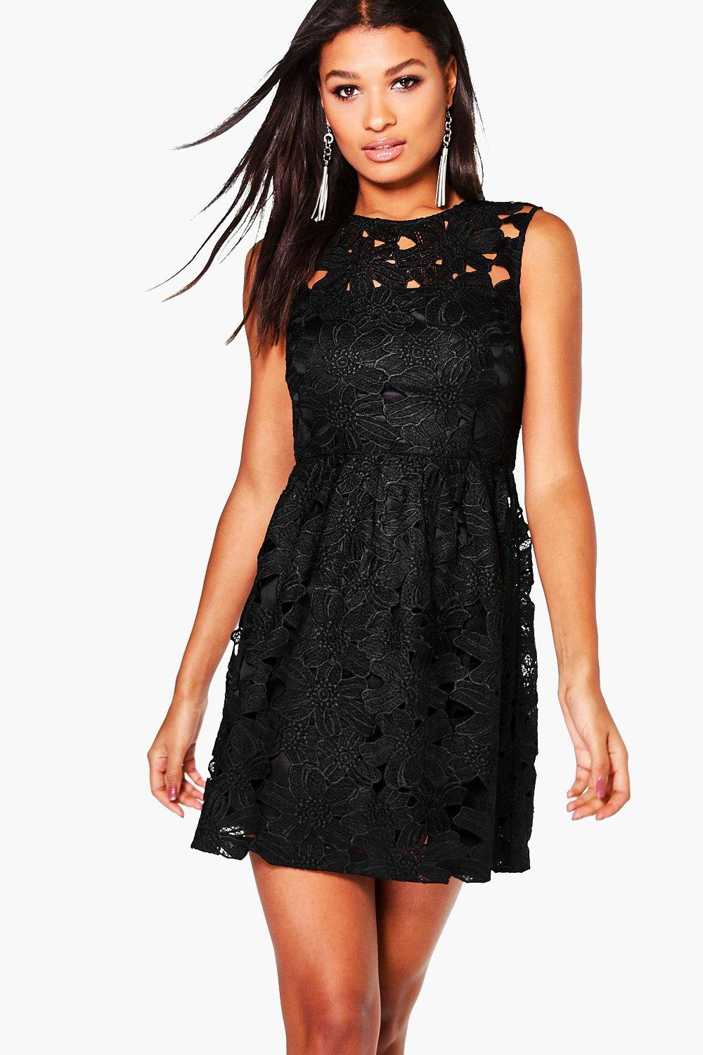 Boutique Austen Lace Sleeveless Skater Dress