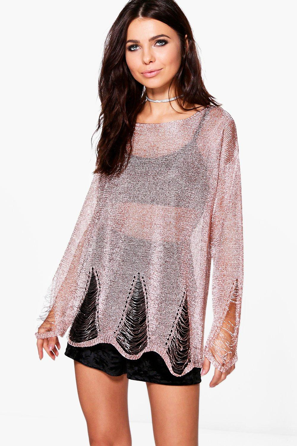 Jessica Distressed Metallic Jumper