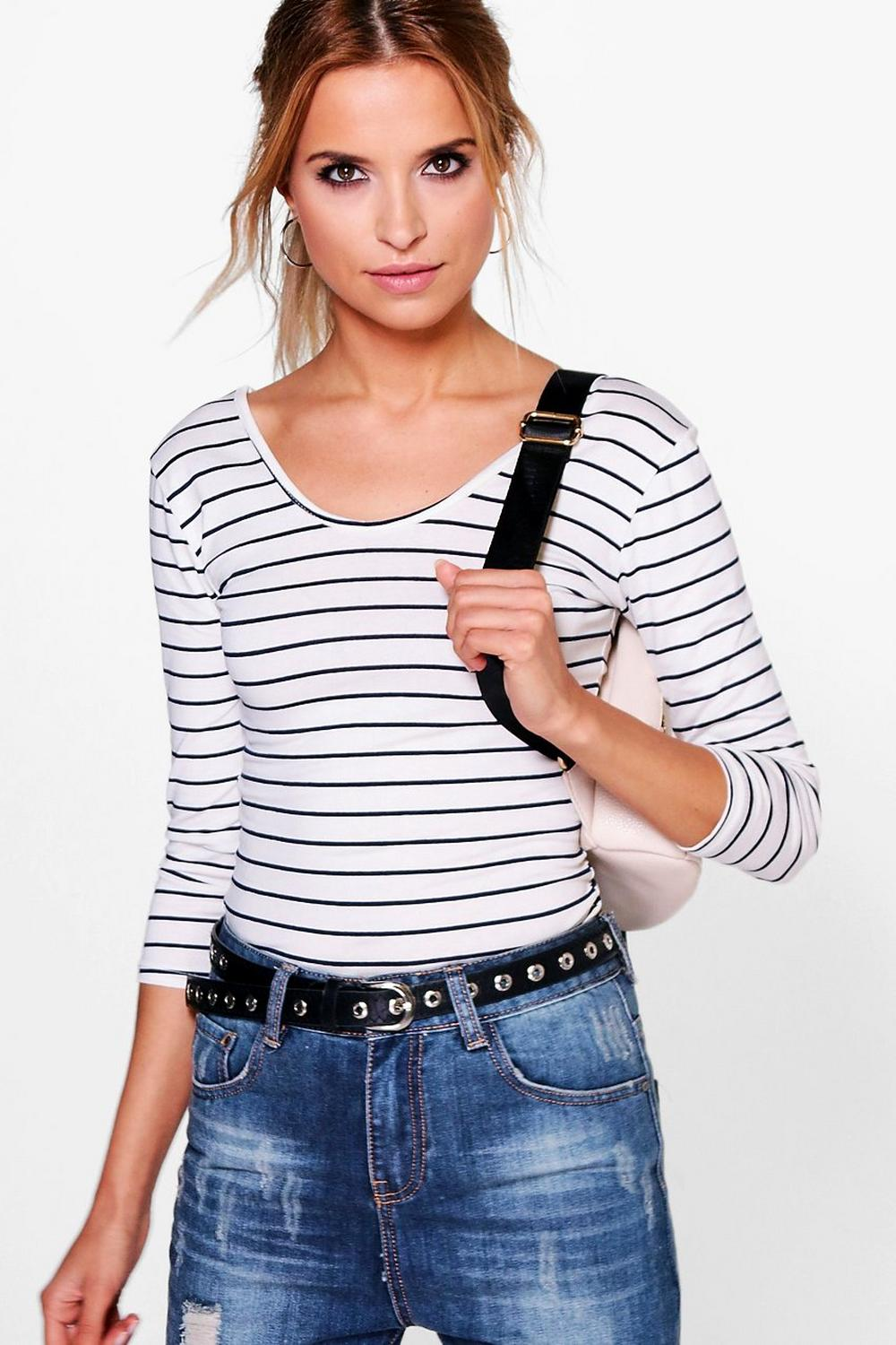 Harper Striped 3/4 Sleeve Top