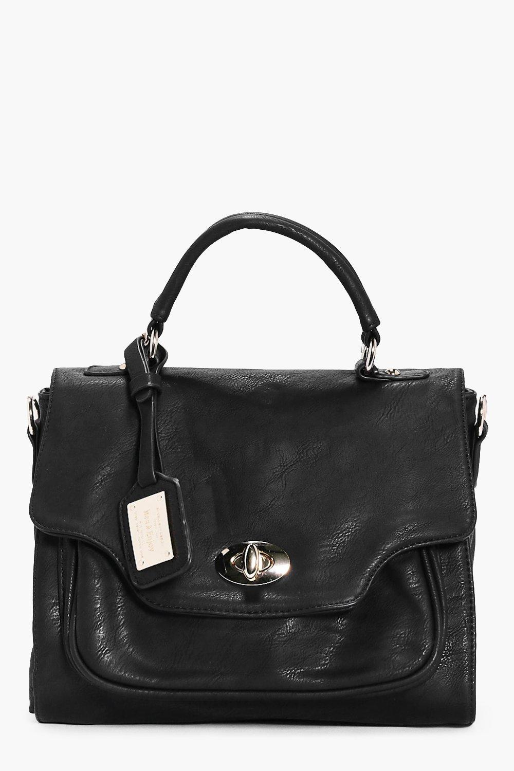 Lara Metal Look Pocket Structured Day Bag