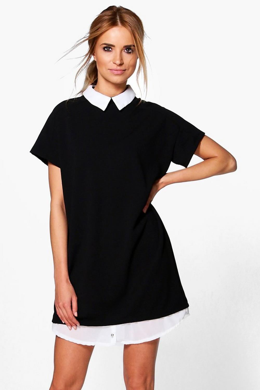 Isobel shirt collar tailored dress at for Tailoring a dress shirt