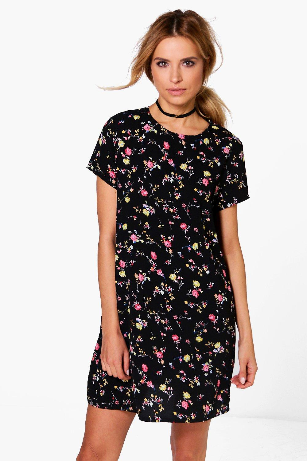 Cadence Floral Short Sleeved Shift Dress