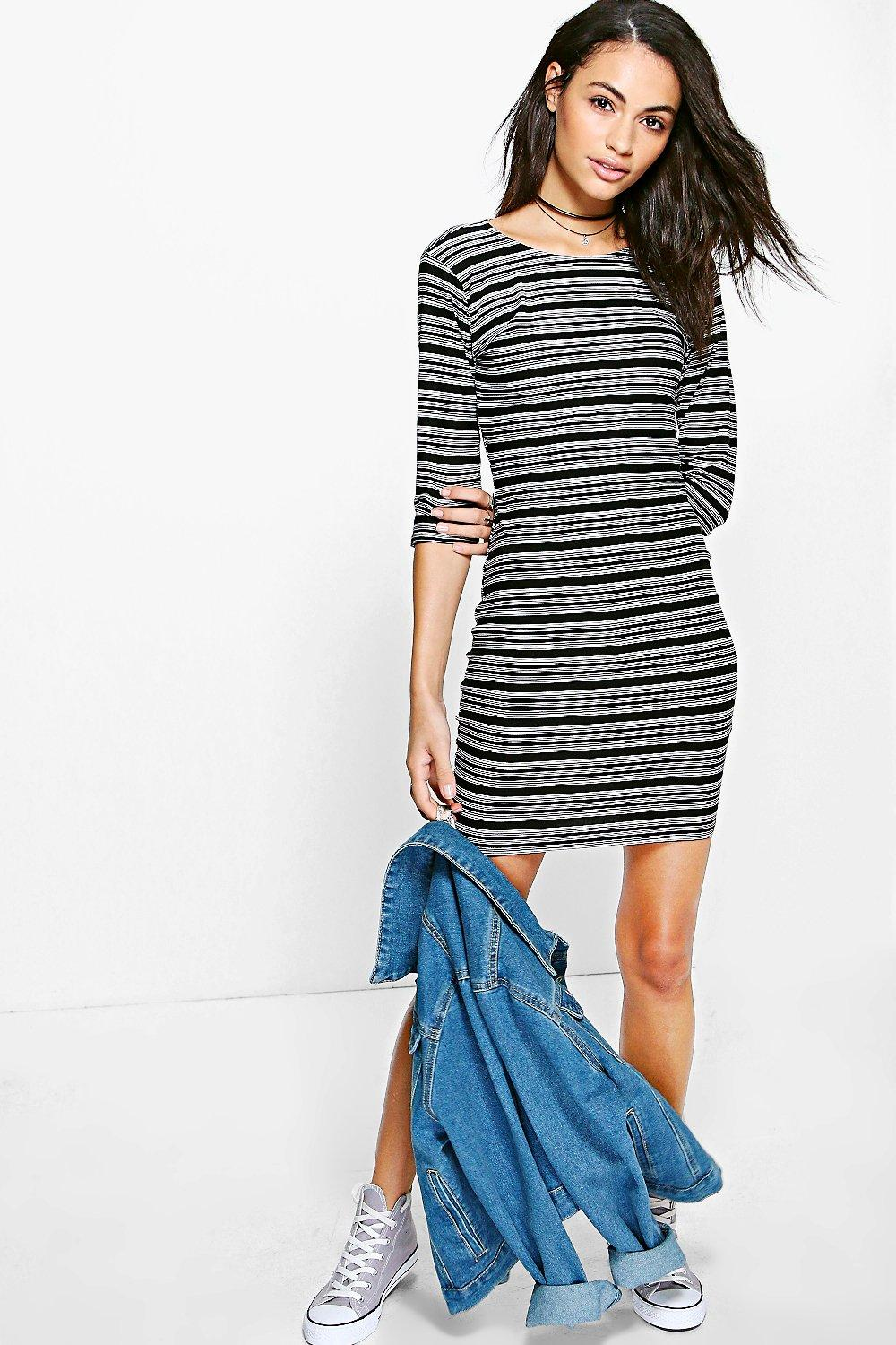 Clarisse Stripe Bodycon Dress