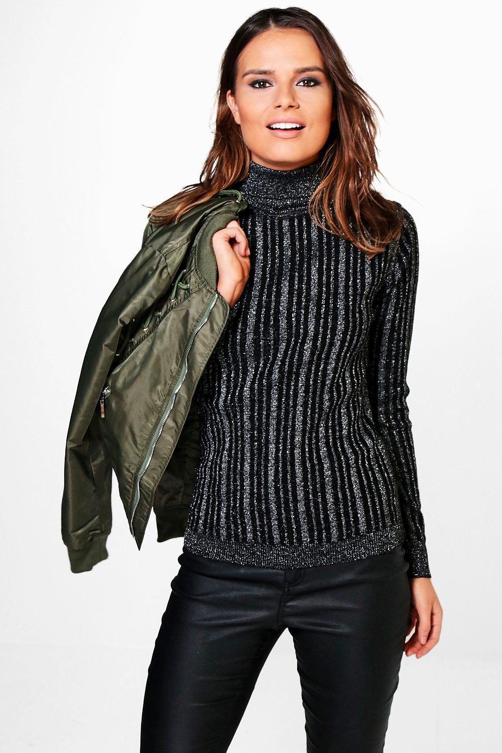 Scarlett Metallic Rib Knit Jumper
