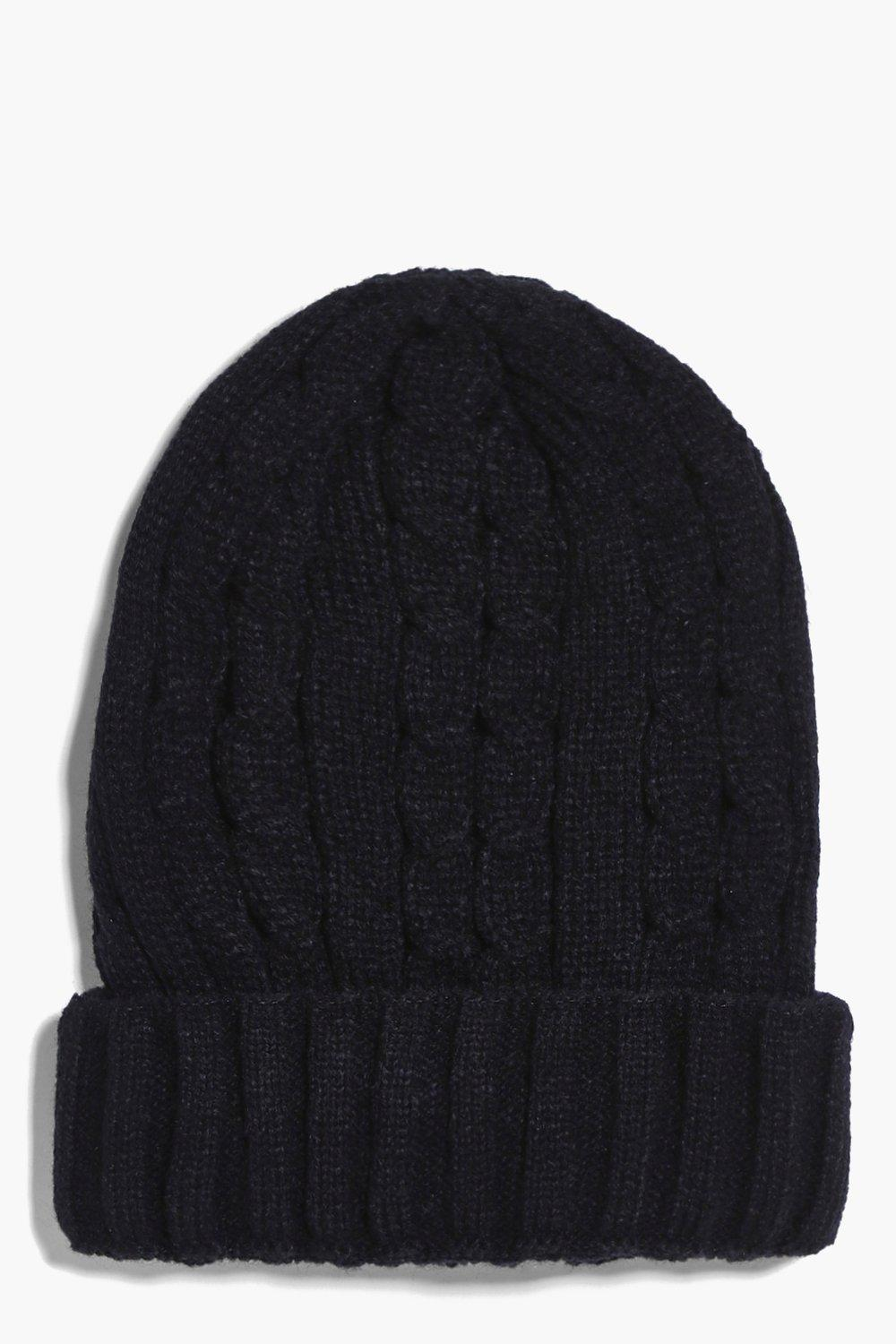 Amy Cable Knit Boyfriend Beanie Hat
