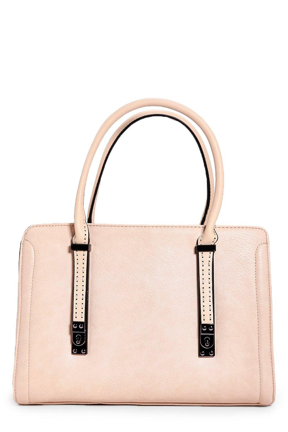 Louise Stitch Detail Structured Day Bag