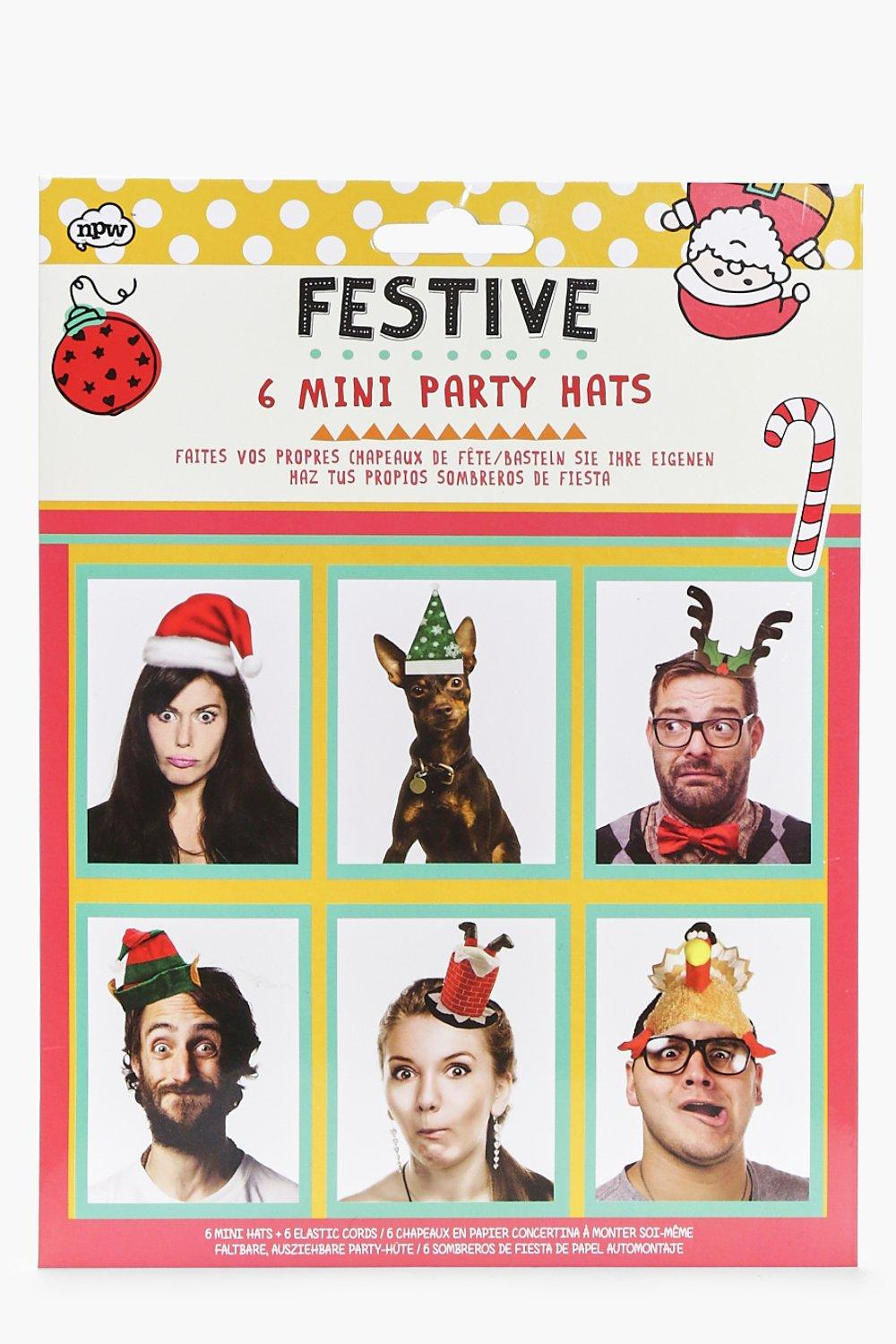 Christmas Mini Party Hats Selfie Set