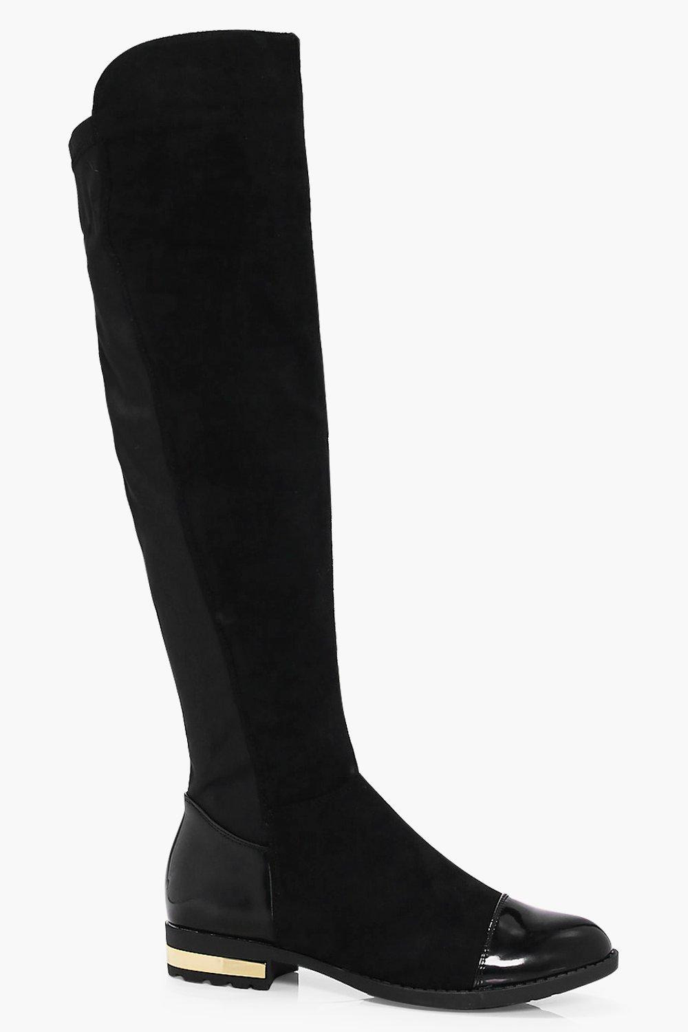 Annabelle Mix Material Over The Knee Boot