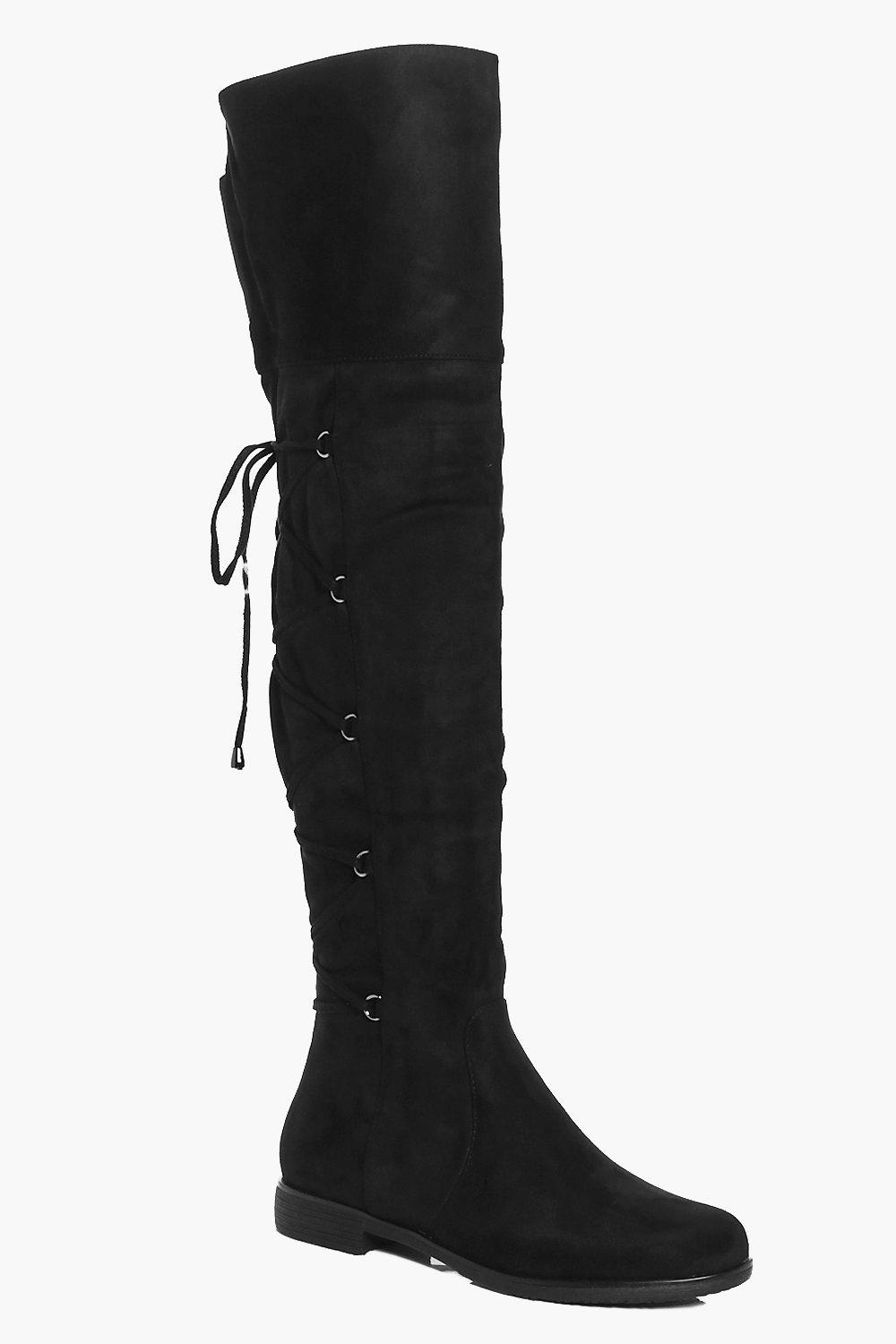 Frances Lace Back Over The Knee Boot