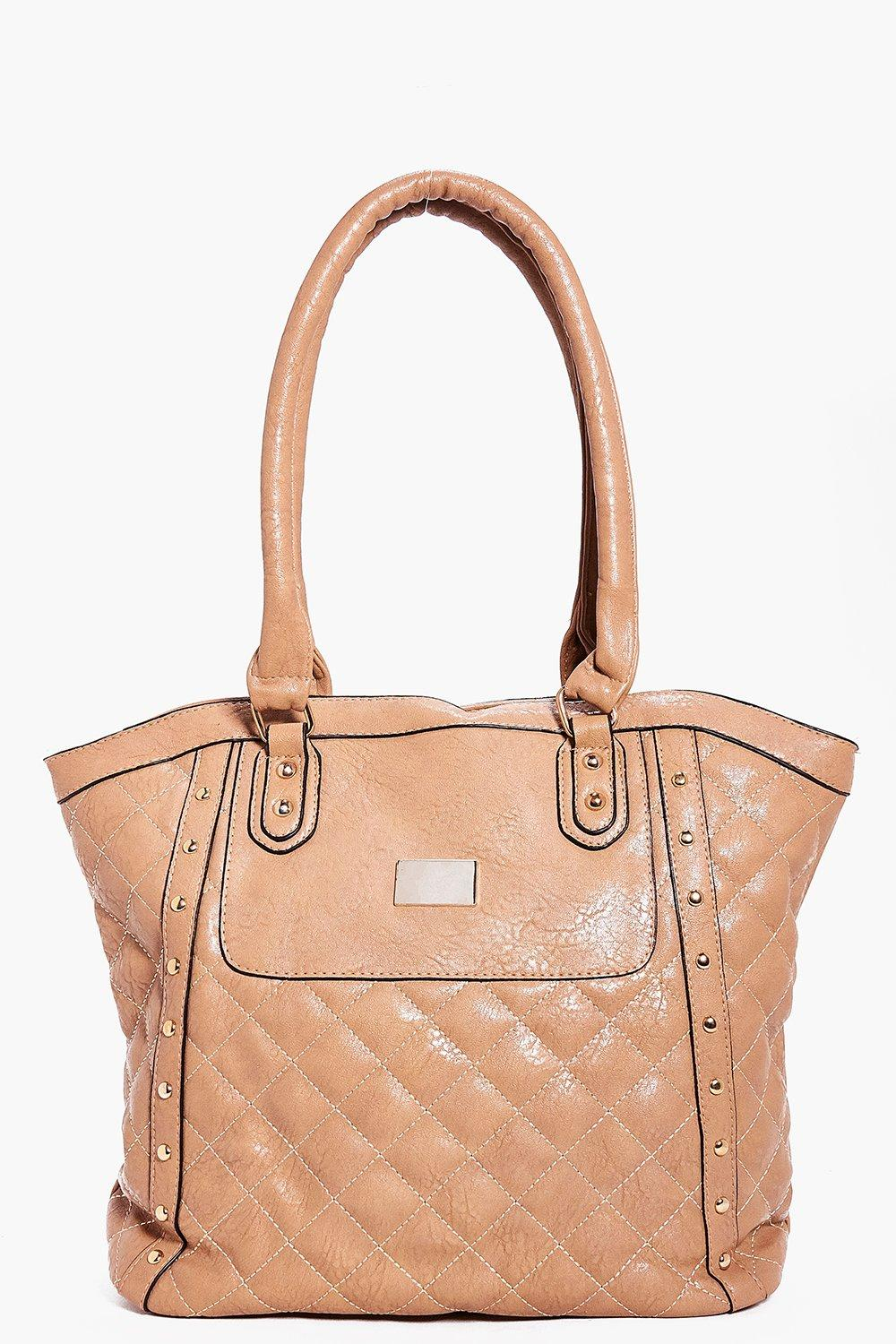 Jessica Quilted Stud Day Bag
