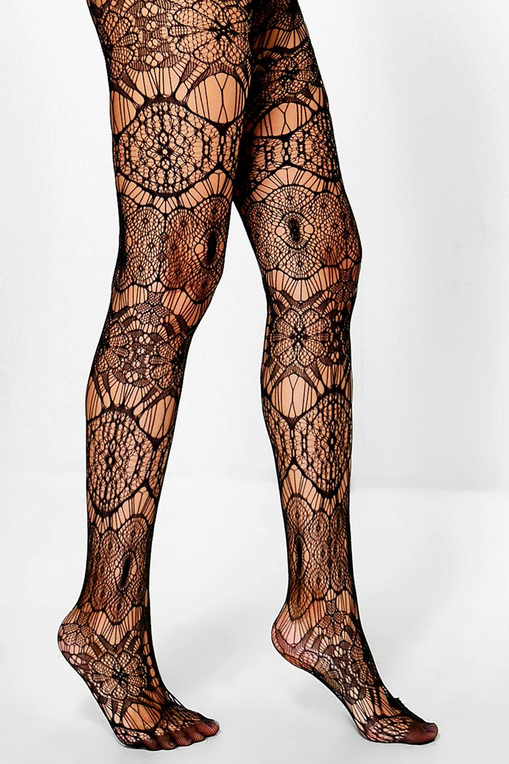 Sophia Floral Lace Fishnet Tights