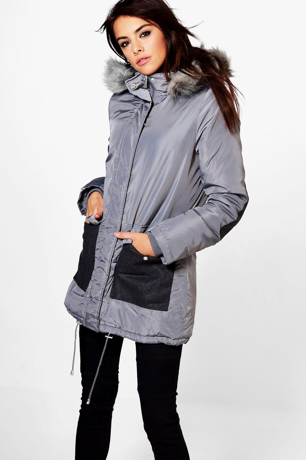 Tia Parka With Contrast Pockets
