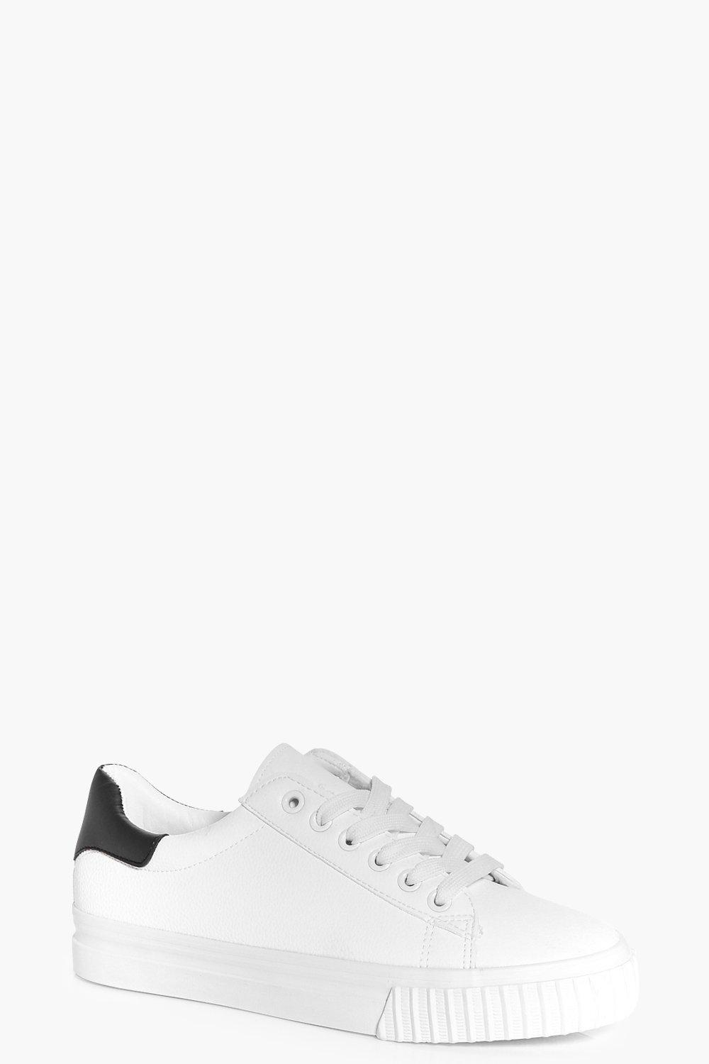Zoe Lace Up Contrast Back Trainer