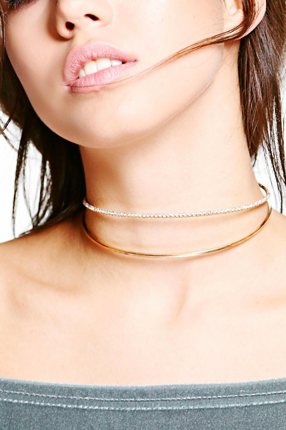 Lucia Diamante Double Thin Layered Choker