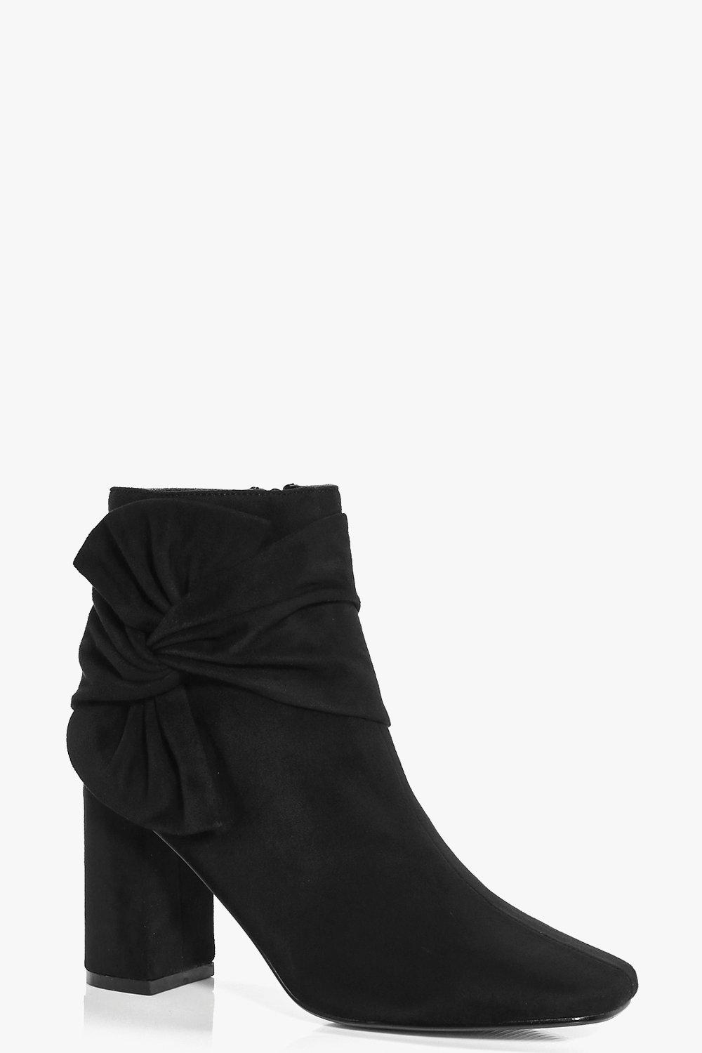 Scarlet Wrap Side Block Heel Boot