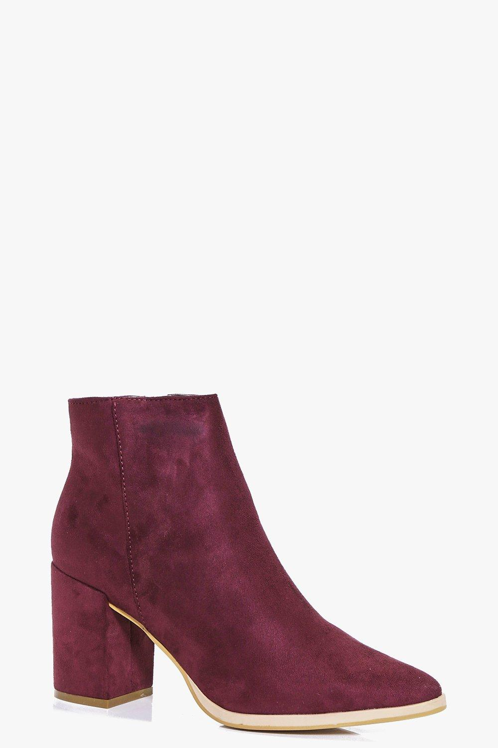 Keira Pointed Block Heel Boot