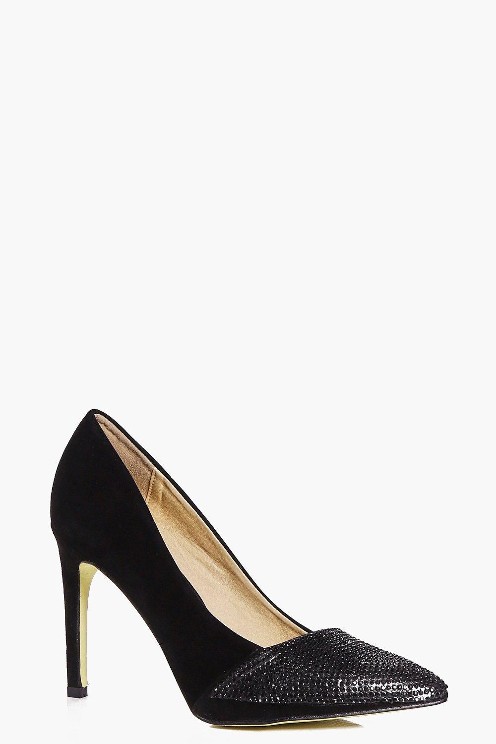 Faye Studded Toe Cap Court