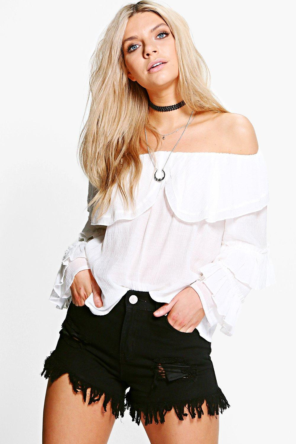 Eve High Waisted Ultra Frayed Mom Shorts