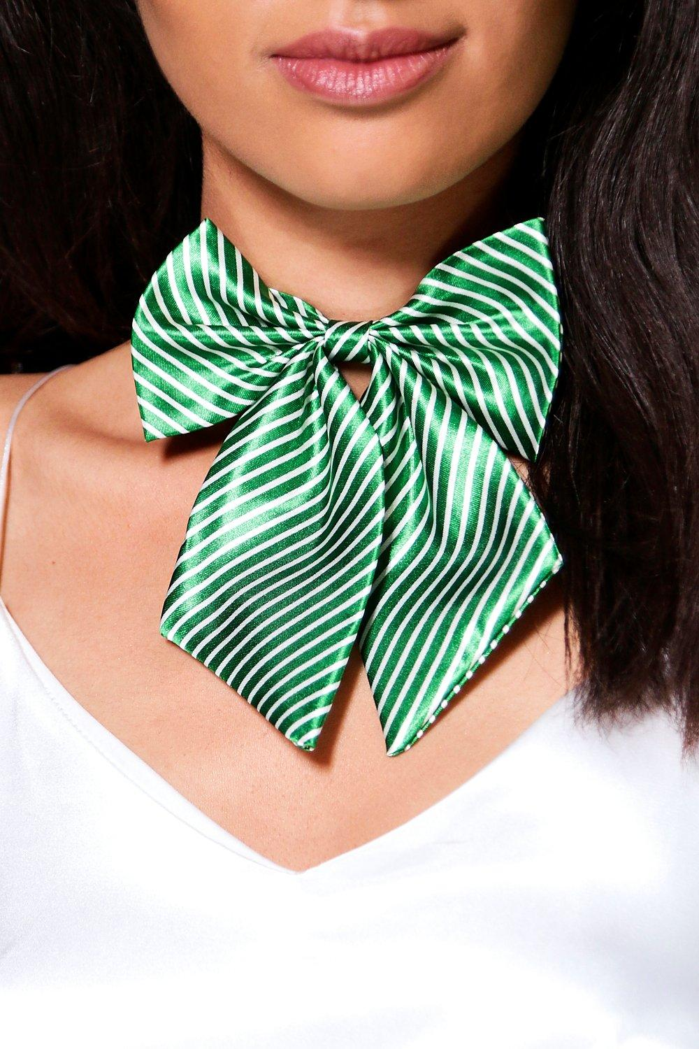 Edie Christmas Bow Satin Choker