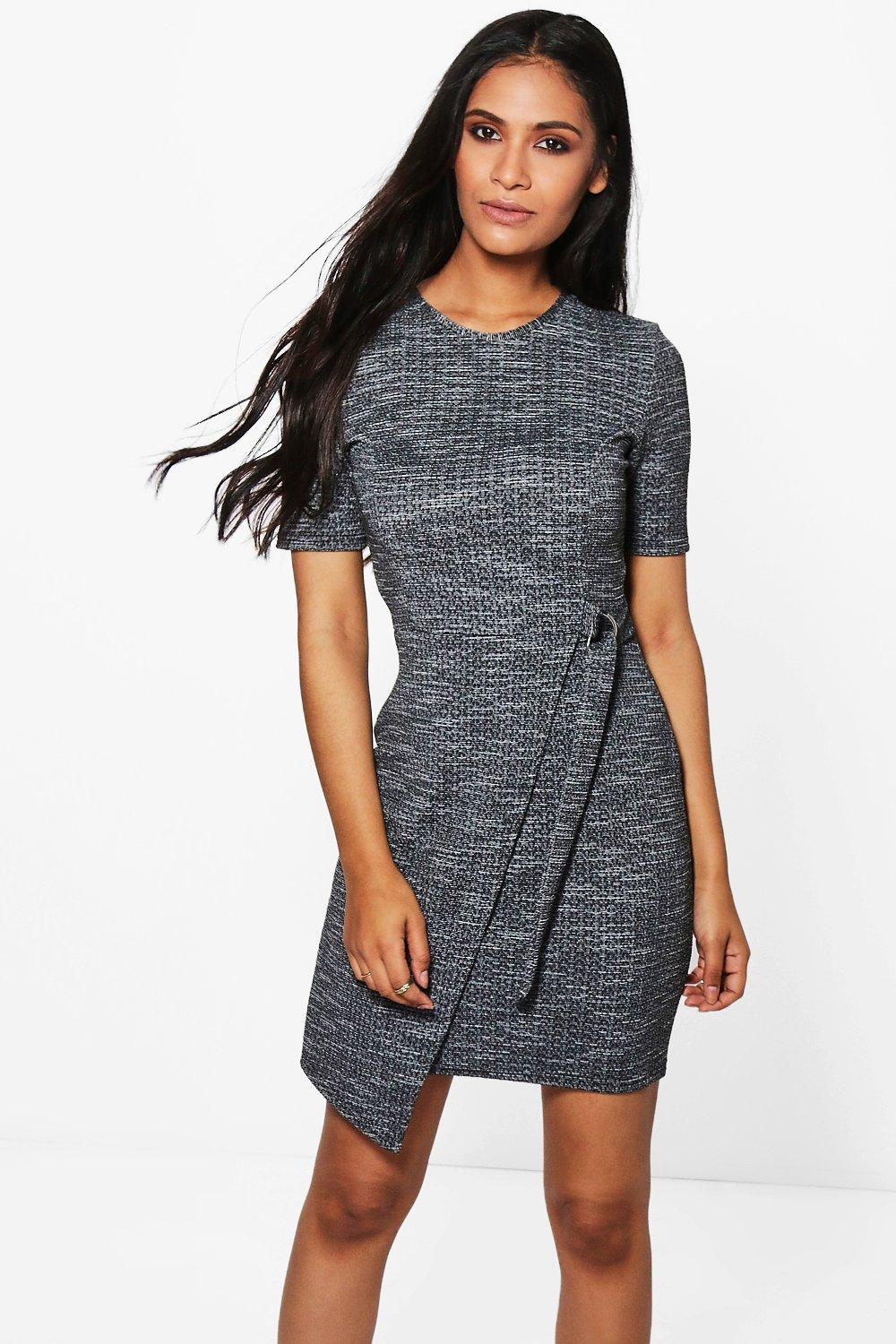 Lois Marl Belted Dress