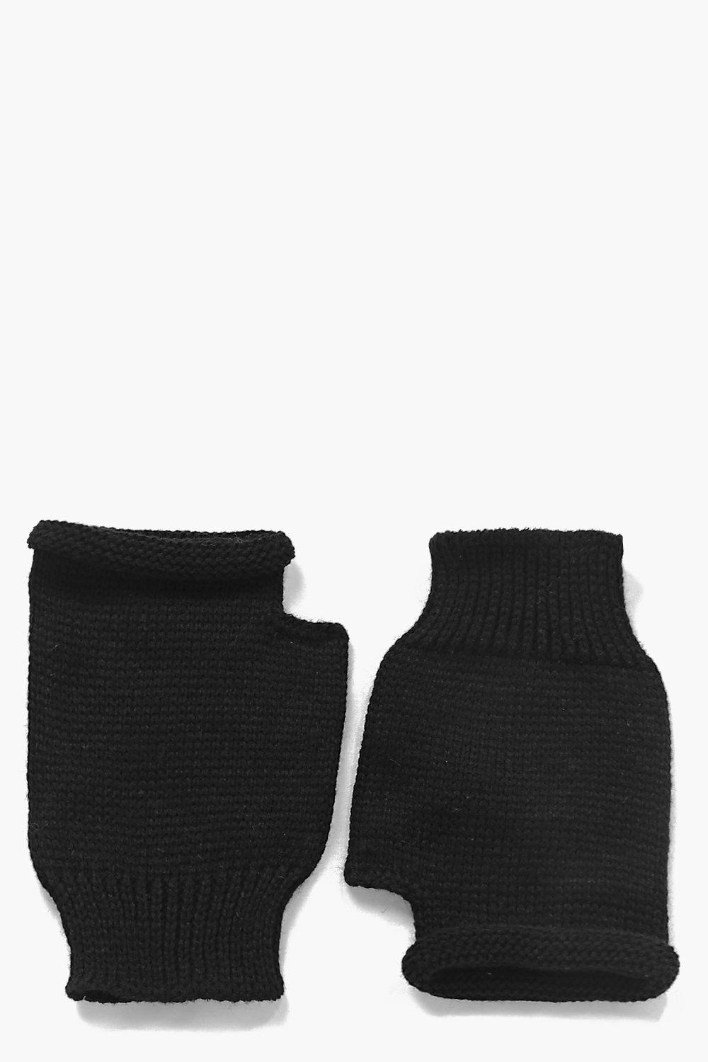 Macy Fingerless Soft Knit Mittens