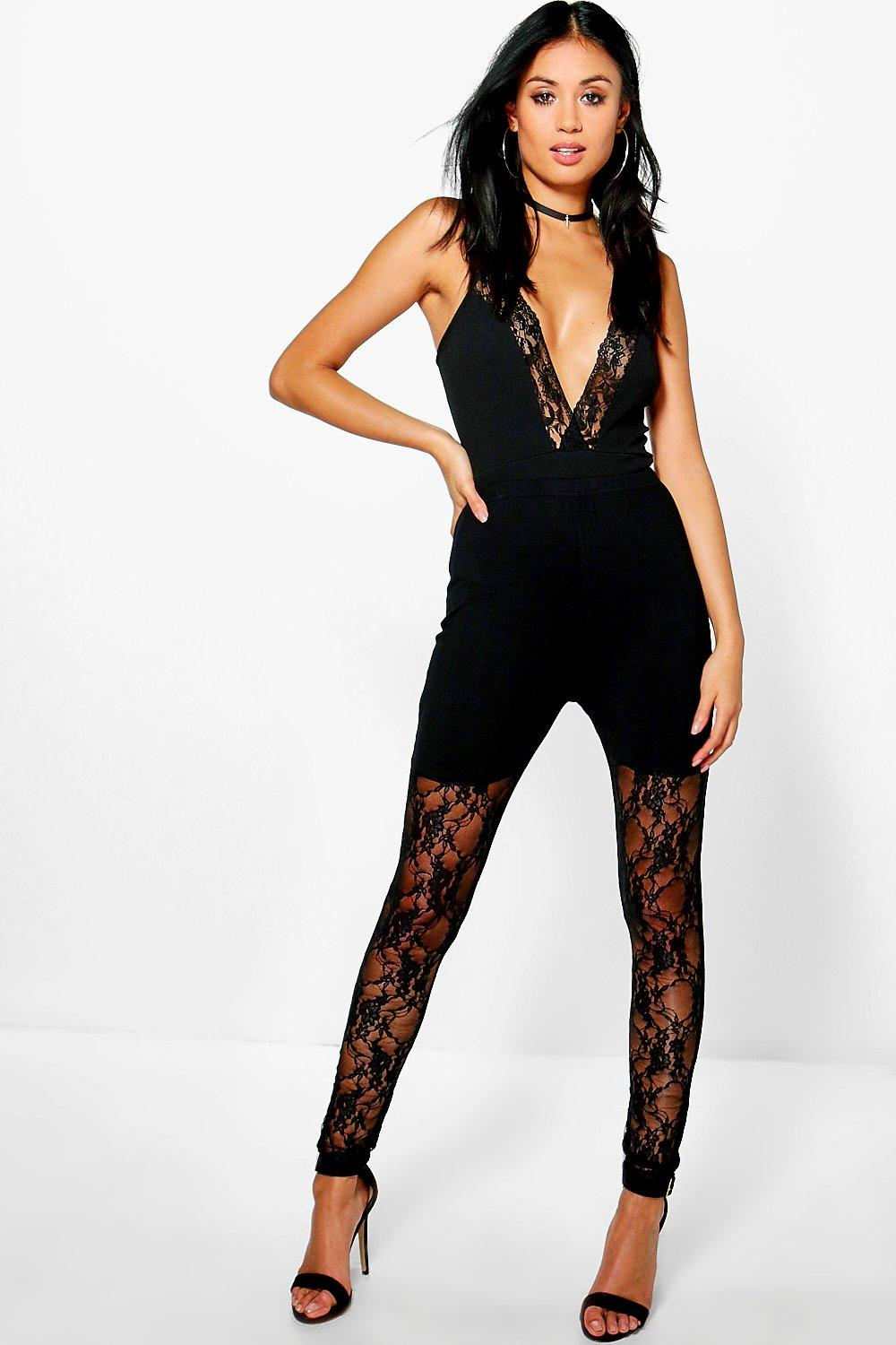 Zuri Lace Front Panel Leggings