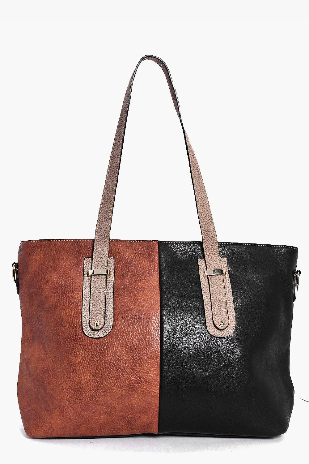 Lena Colour Block Detail Shopper