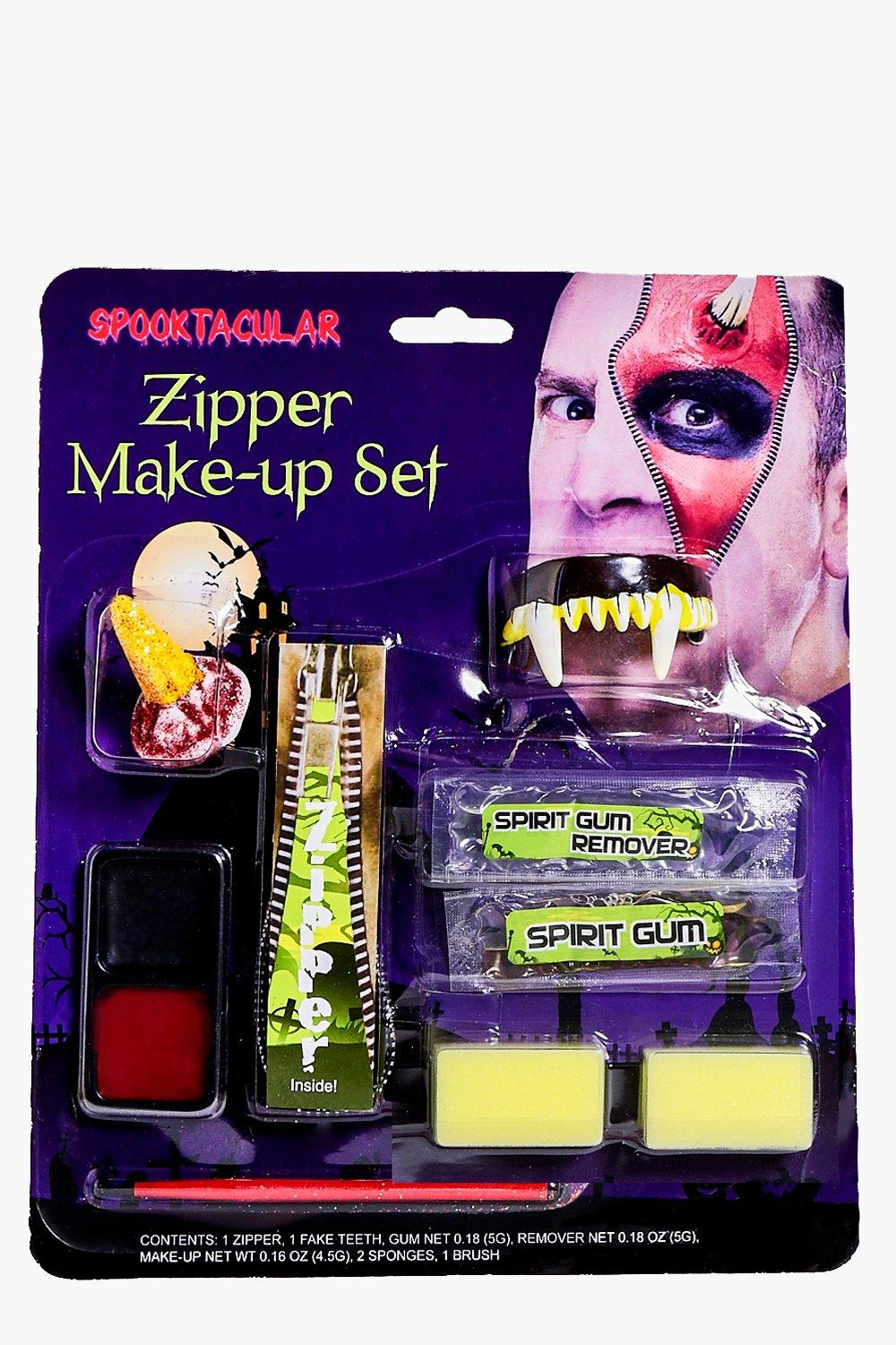 Halloween Devil Zipper Face Make Up Kit