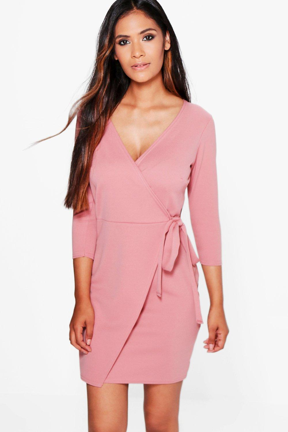 Emily Wrap Tie Front Dress