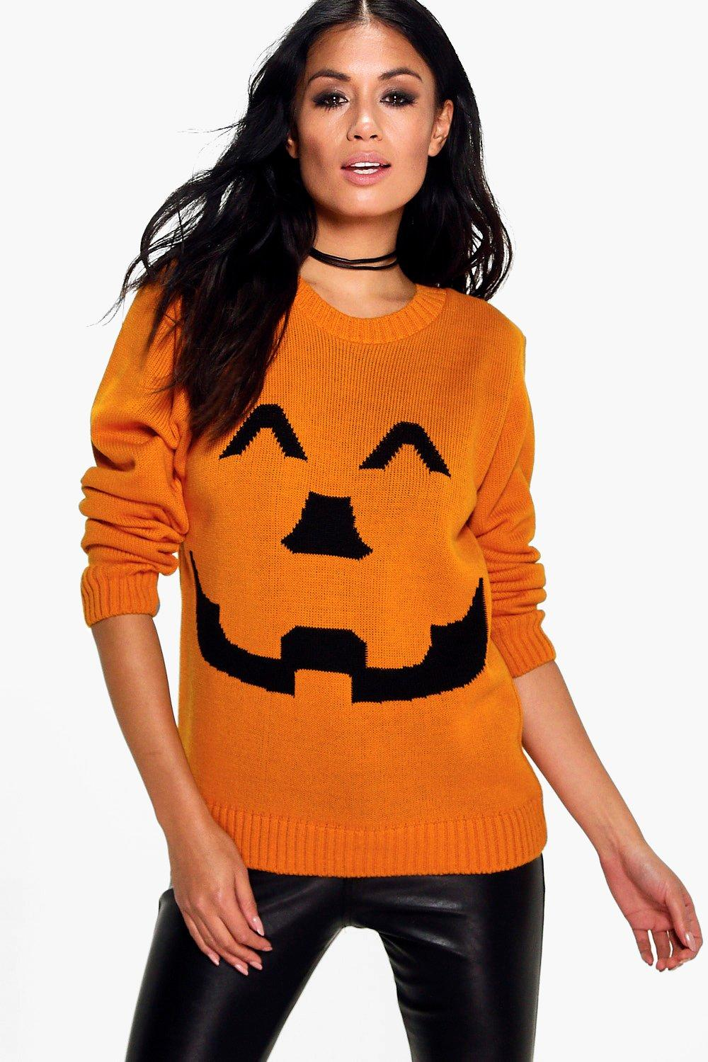Megan Pumpkin Halloween Jumper