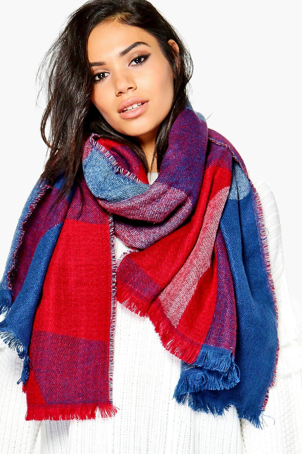 Ellie Colour Block Blanket Scarf