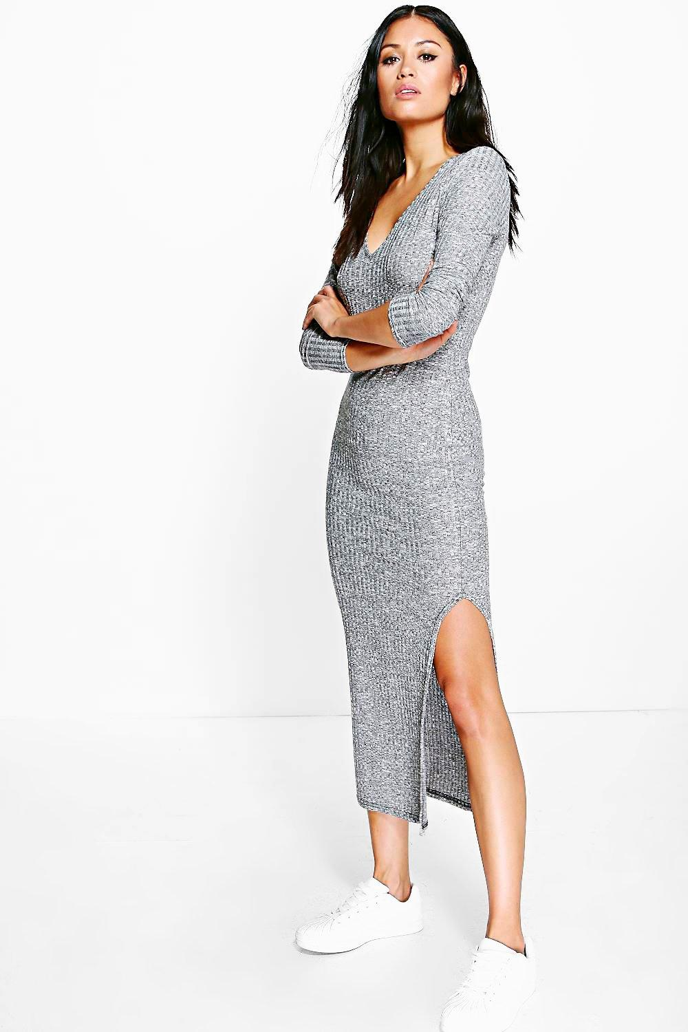 Layla Knitted Split Side Midaxi Dress