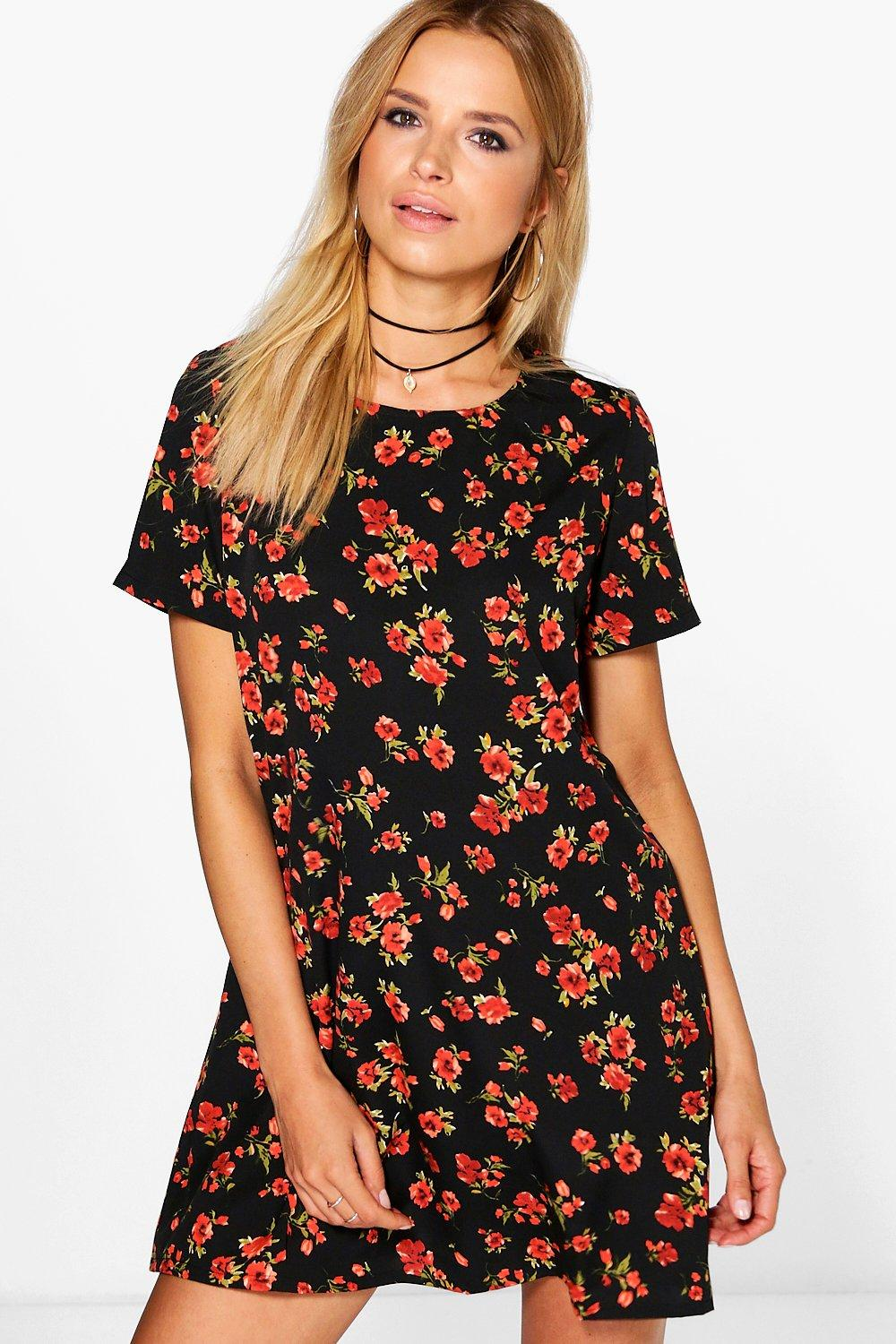 Tammi Floral Short Sleeved Shift Dress