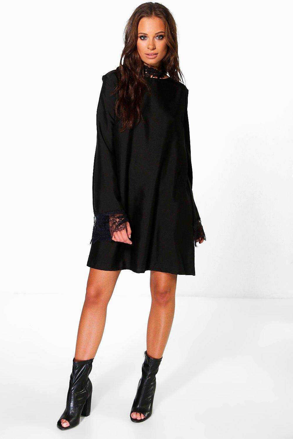 Finola Trapeze Sleeved Shift Dress