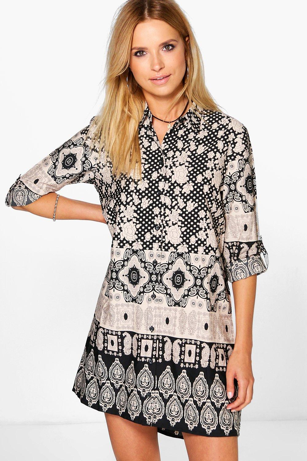 Isabella Paisley Print Shirt Dress