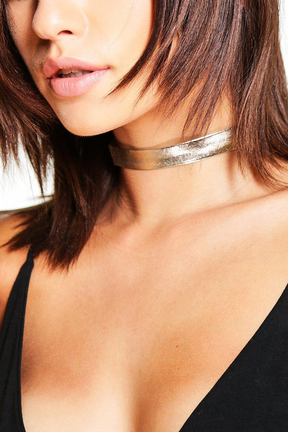 Nancy Metallic Skinny Choker