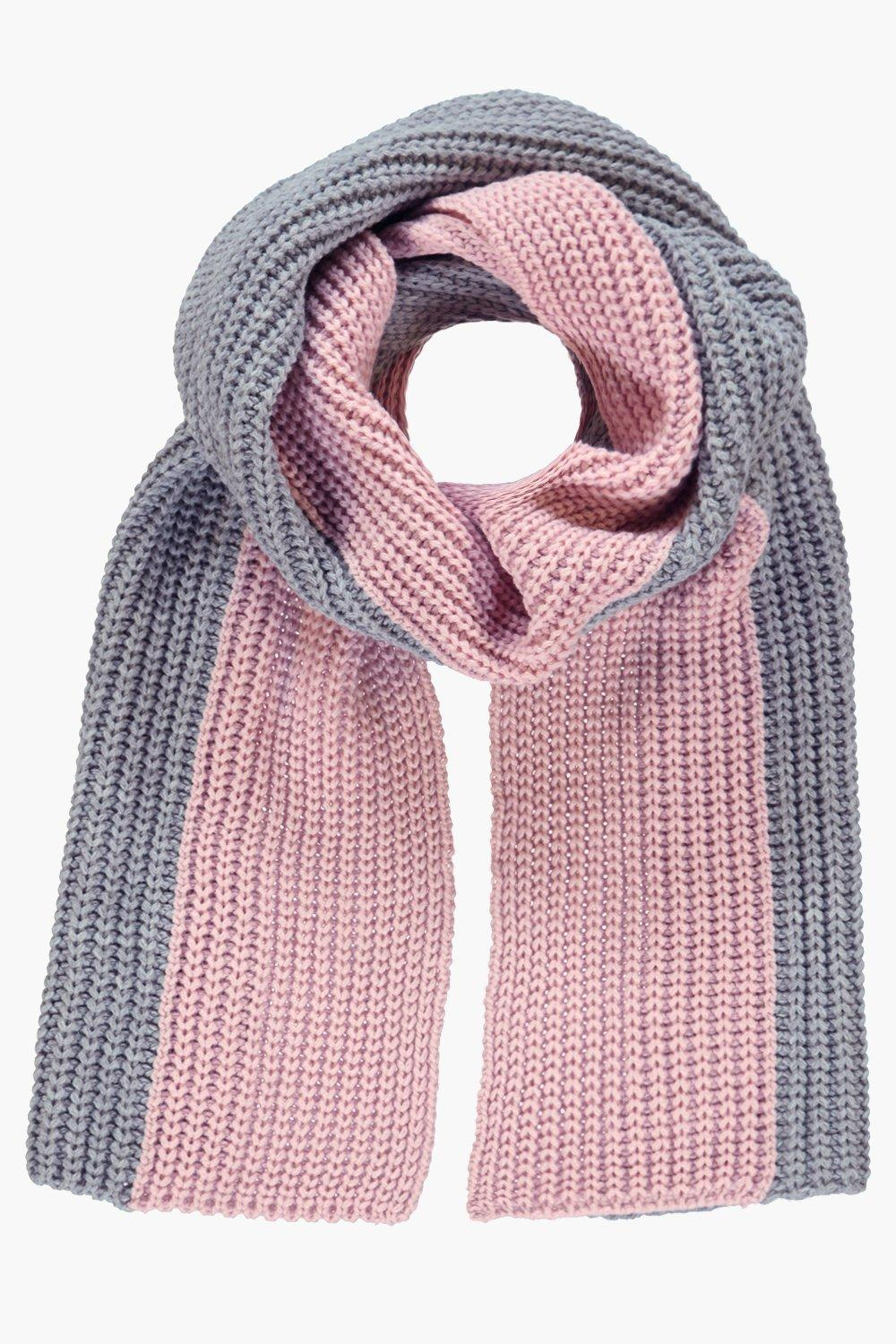 Erin Two Tone Extra Long Knit Scarf