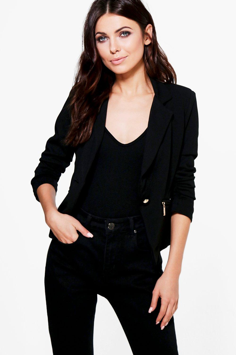 Kayla Zip Pocket Blazer