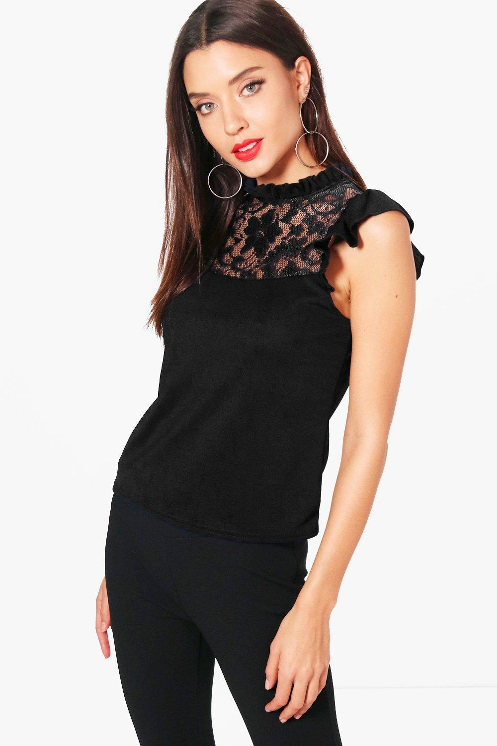 Lily Frill Lace Detail Top