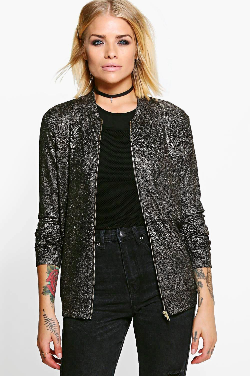 Nancy Metallic Rib Bomber