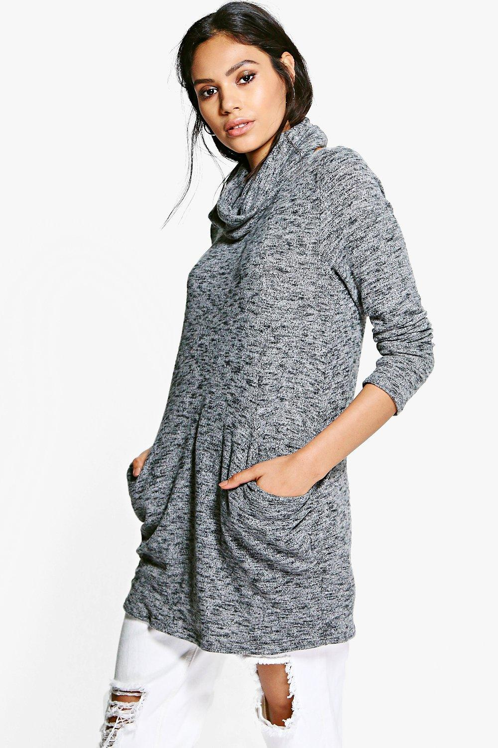Keira Soft Knit Slouchy Tunic With Snood