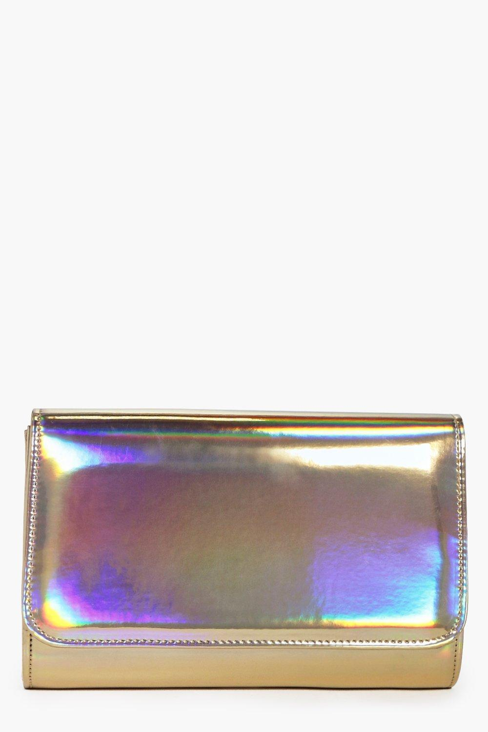 Isabel Holographic Clutch