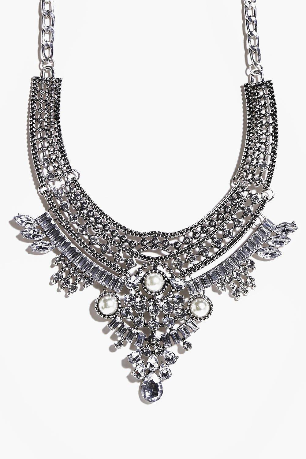 Orla Diamante and Pearl Statement Necklace