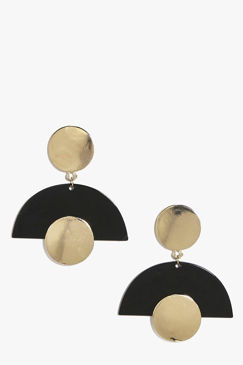Anna Contrast Abstract Earrings